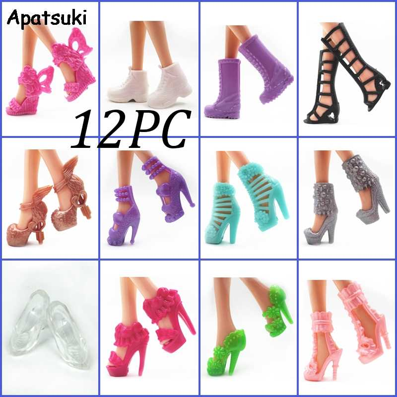 "5Pairs Pink Fashion Doll Shoes For 11.5/"" 1//6 Doll Boots High Heels Shoes Bootie"