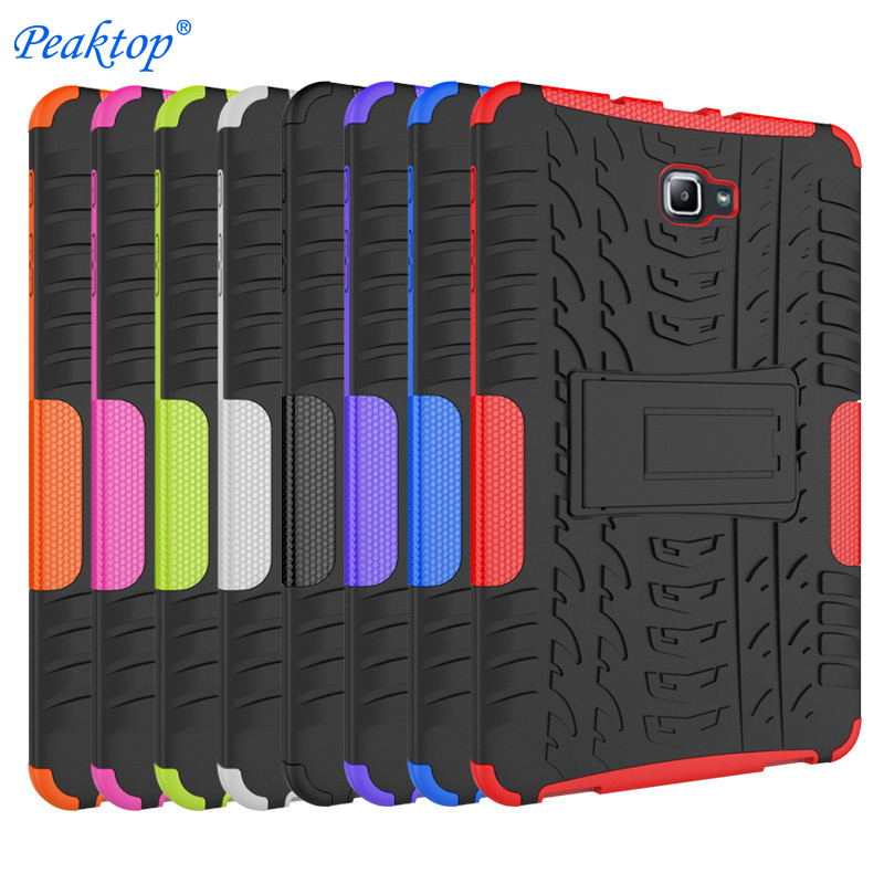 For Samsung GALAXY Tab A A6 10.1 case T580 <font><b>T585</b></font> T580N T585N 10.1inch Tablet case Silicon TPU+PC shell Shockproof Stand Cover+pen image