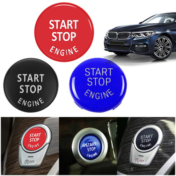 For BMW X1 X5 E70 E71 Z4 E89 3 5 Series E90 E91 E60 Car Engine START STOP Button Replacement Switch Cover Decoration Accessories image