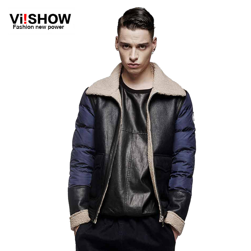 VIISHOW Brand 2016 New Arrival Men Winter Jackets Coat Warm Overcoat splicing design down cotton padded jacket men SIZE S-5XL