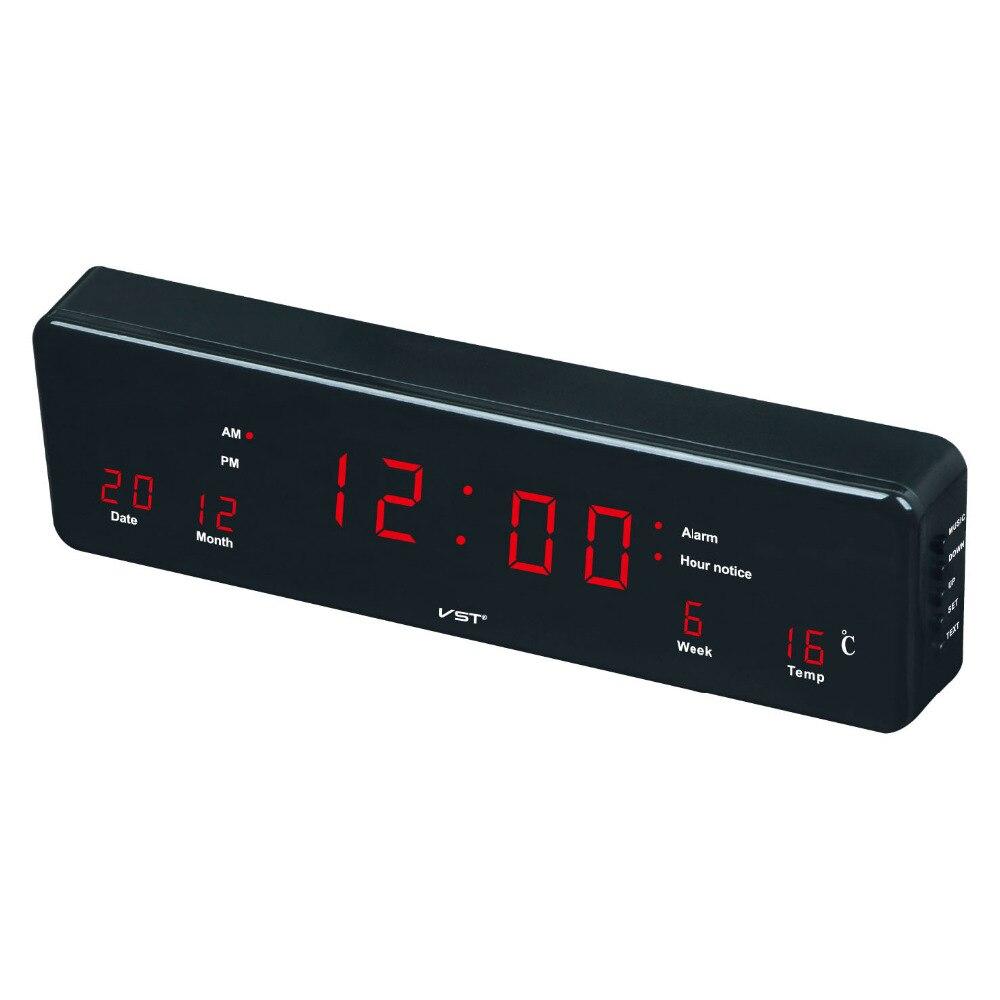 Nieuwe Grote Digitale Wandklok Modern Design LED Display Kalender ...