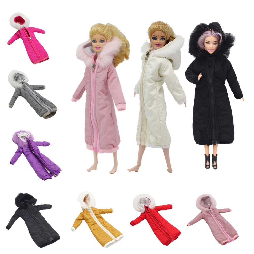 Pretty Long Coat Cotton Dress 1/6 Clothes Toy Winter Wear Wedding Dress Skirt 1/6 BJD Doll Jacket Coat Accessories For Barbies