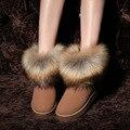 Cabelo Do Coelho de alta Qualidade feitas À Mão Botas De Neve Mulheres 2017 Botas de inverno de Algodão Sapatos Quentes Botas Senhoras Botas de Tornozelo das Mulheres Y002