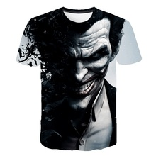 Fashion 2019 new super cool T-shirt mens and womens 3d t-shirts printed with suicide clown short-sleeved summer shirt t-shi