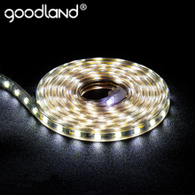Goodland светодиодный светильник 220 В лента гибкая светодиодная лента Диодная лента SMD 5050 водонепроницаемая 1 м 2 м 3 м 5 м 10 м 15 м 20 м для гостиной