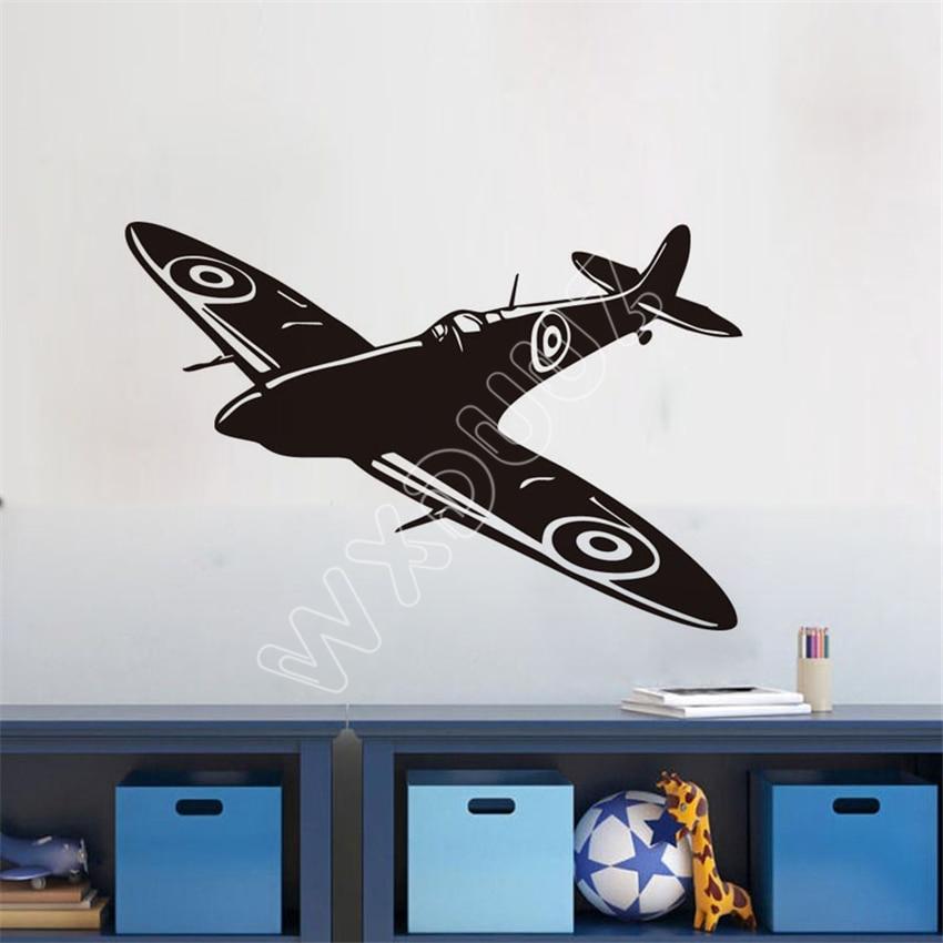 WXDUUZ New Kids Room Wall Sticker Airplane Vinyl Wall Decals Home Decor Aircraft Wall Paper Wall Sticker Home Decor B478