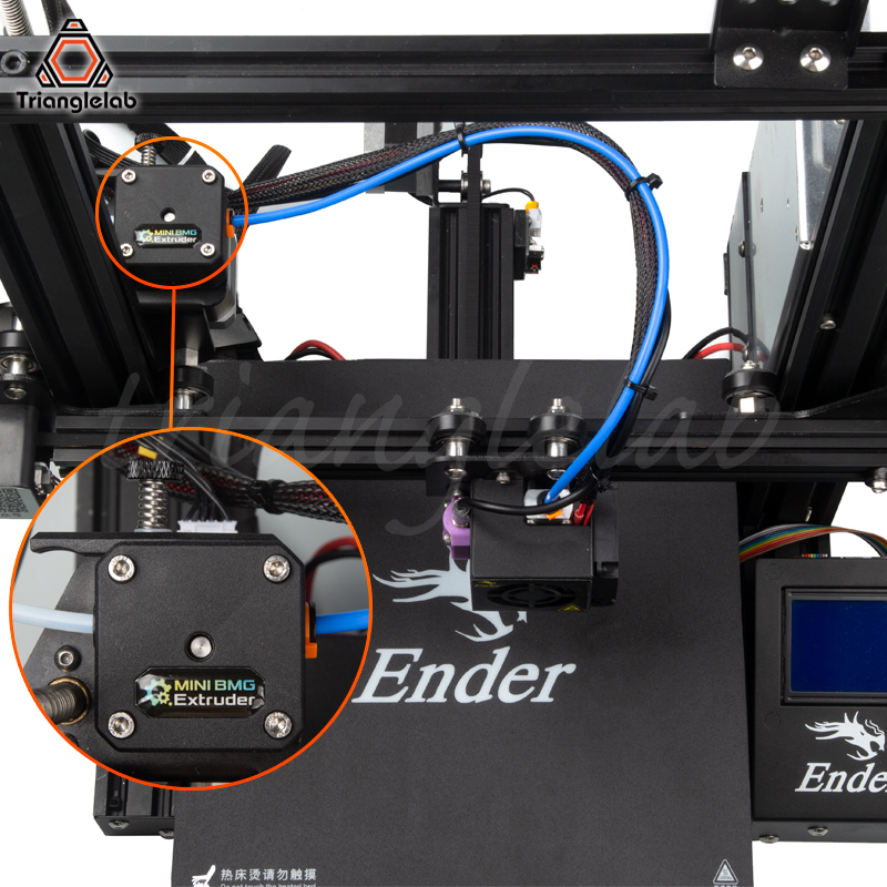 Trianglelab haute qualité Ender-3 ou CR-10 imprimante 3D kit de mise à niveau des performances Double engrenage entraînement Direct BMG extrudeuse CR10 HOTEND - 3