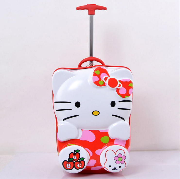 New Cute children's Carry-Ons Spinner suitcase 3D cartoon girls trolley case hello kitty student Rolling Luggage new 20 inch hello kitty spinner travel luggage suitcase sets kids student women trolleys rolling luggage ems dhl free shipping