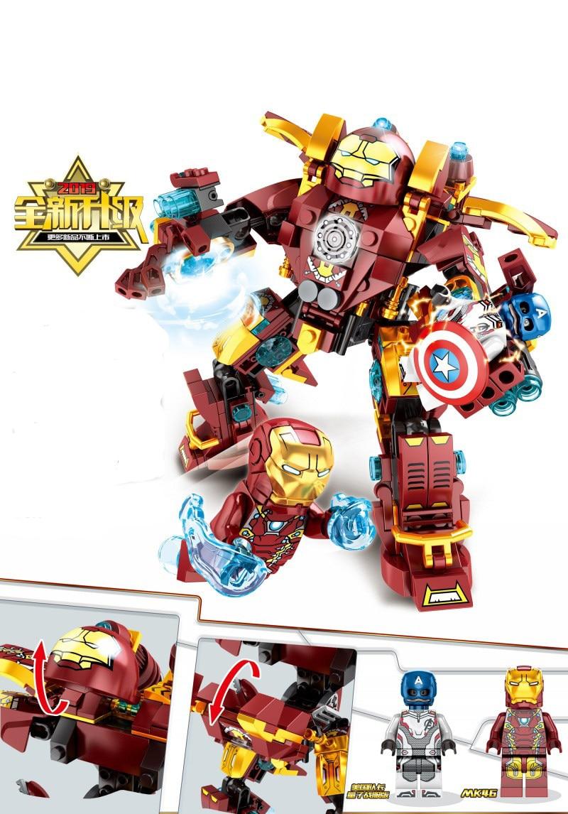 Νέες υπερήρωες Iron Man Smash Hulk Buster Building - Κατασκευαστικά παιχνίδια - Φωτογραφία 2