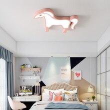 Animal Horse Cartoon Princess Nursery Kids Children Ceiling Lights For Bedroom Captain America Lamp Room Light Led