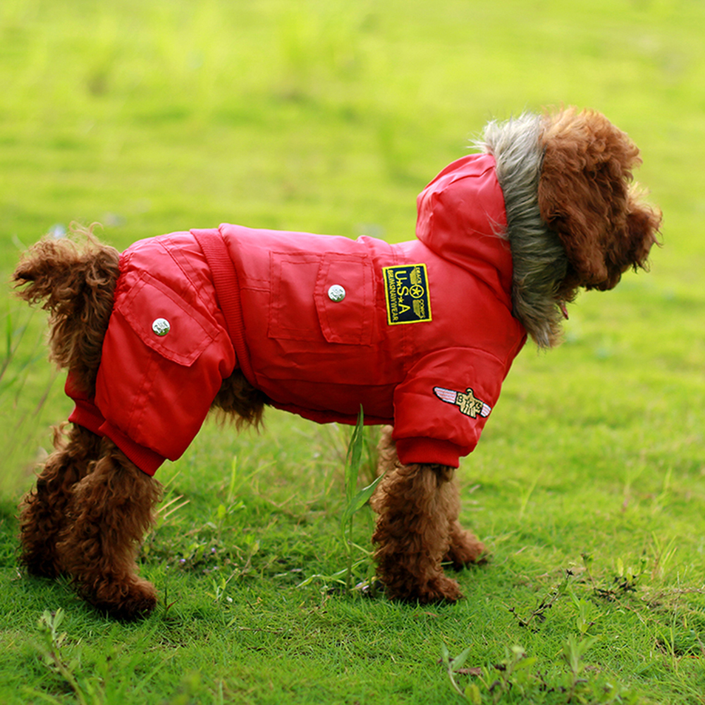 High Quality Pet Dig Winter Coat USA Air Force Style Windproof Dog Puppy Warm Jacket Pet Clothing