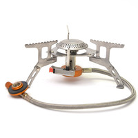 3500W Outdoor Gas Stove Camping Gas burner Folding Electronic Stove hiking Portable Foldable Split Stoves
