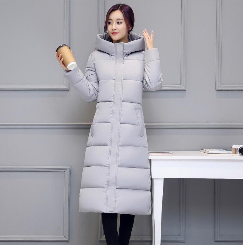Lange baumwolle mantel mit kapuze zipper große größe schlank dick unten baumwolle warme winddicht frauen oberbekleidung sustans