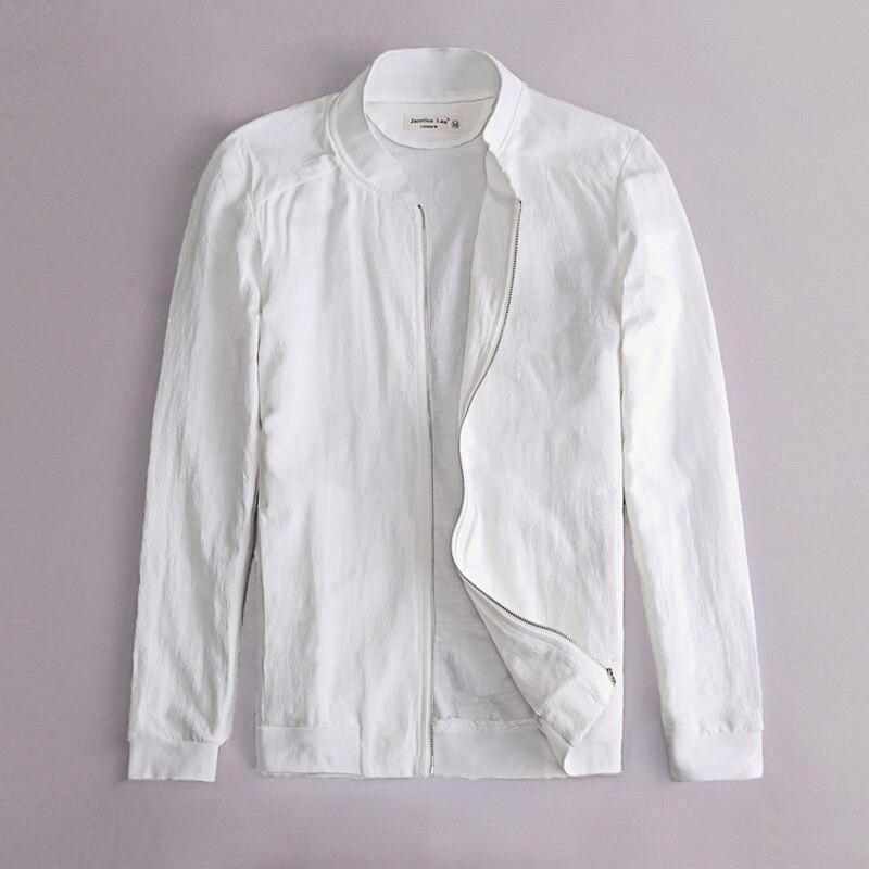 Estilo musulmán Chaqueta blanca para hombres Lino y algodón - Ropa de hombre