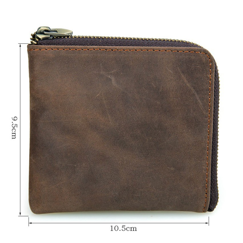 Vintage Genuine Leather Coin Pocket Unisex Wallet01