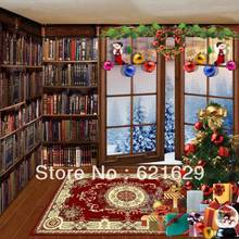 Christmas atmosphere 8'x8′ CP Computer-painted Scenic Photography Background Photo Studio Backdrop DGX-455