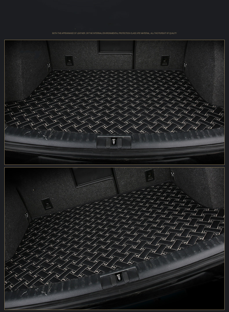 special car trunk mats for Jaguar XEL XFL XE XF XJ XJL F-PACE F-TYPE XK X-TYPE S-TYPE waterproof durable cargo boot carpets the whole package of cable connector joint 75 5 f head set top box power splitters f extrusion type waterproof metric