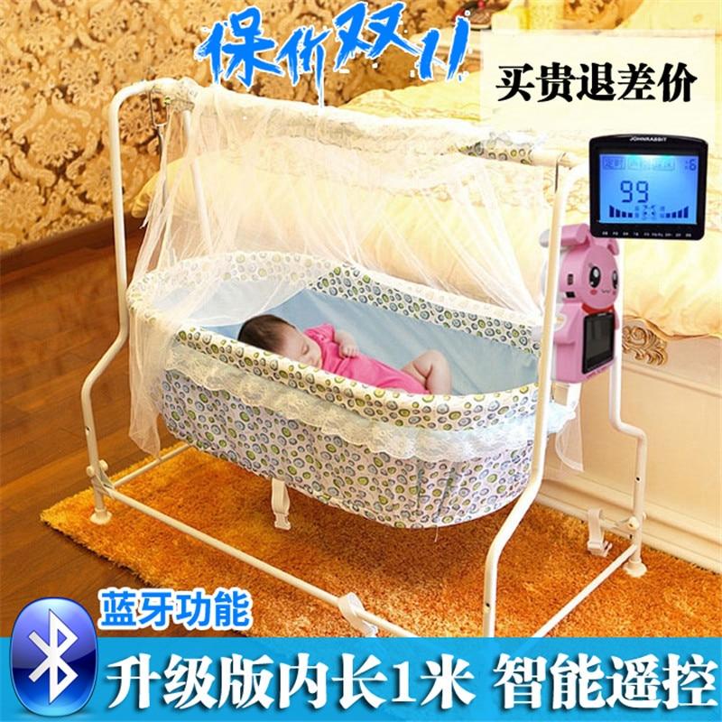 Berceau bébé lit bébé berceau électrique berceau portable lit bébé pliant automatique bande de concentretor moustiquaire