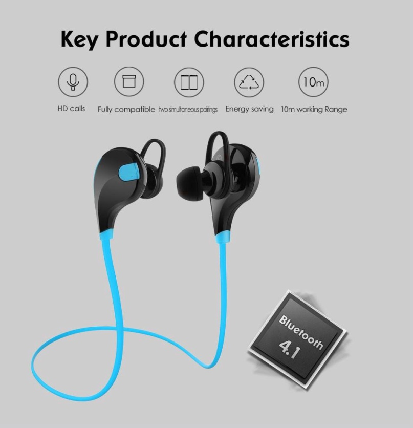Second Generation Upgrade EP-B4 Sport Bluetooth Headphones Bluetooth 4.1 Wireless Sweat proof Sport Headphones Stereo second generation rhythm nalone wireless