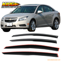 For 11-15 Chevy Cruze Mugen Style JDM Window Visors Guard Wind Deflector 4PCS USA Domestic Free Shipping