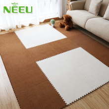 Soft Suede Foam Puzzle Mat Kid Play Mats Interlocking Baby Gym Exercise Floor Protection Pad Rugs Room Decor Floor Carpet Mat