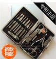 Free shipping 1 Stainless Nipper Cutter Nail Clipper Pedicure Manicure Set Kit Case Tool