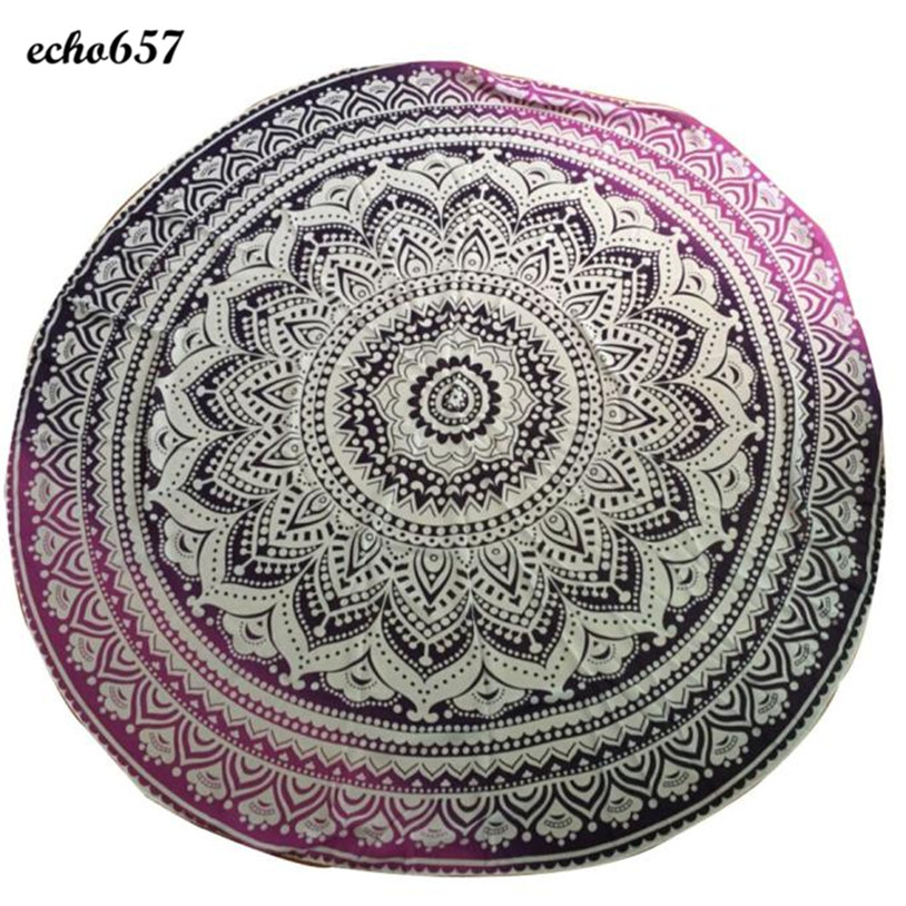 Beach Towel in Bath Towel Echo657 New Round Beach Pool Home Shower Towel Blanket Table Cloth for Adult Jan 10