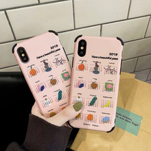 Cute Cartoon Calendar Phone Cases For iphone XS Max XR X Case Fashion Fruit pattern For iphone 6 6s 7 8 plus Soft Cover Capa цена и фото
