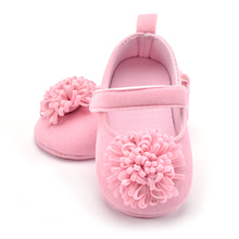 Baby Girl Flower Elastic Band Walking Shoes Anti-slip Soles Baby First Walker Hand-Made Toddler Kid Shoes 3 Color