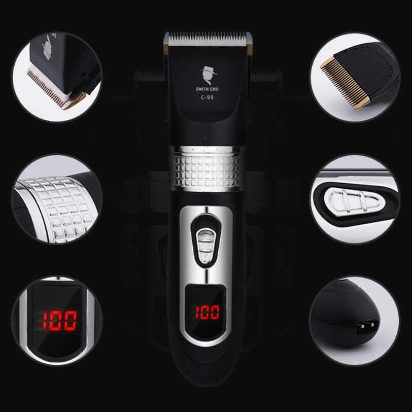 Professional Electric Hair Trimmer Beard Shaver Rechargeable Hair Clipper Titanium Knife Hair Cutting Machine