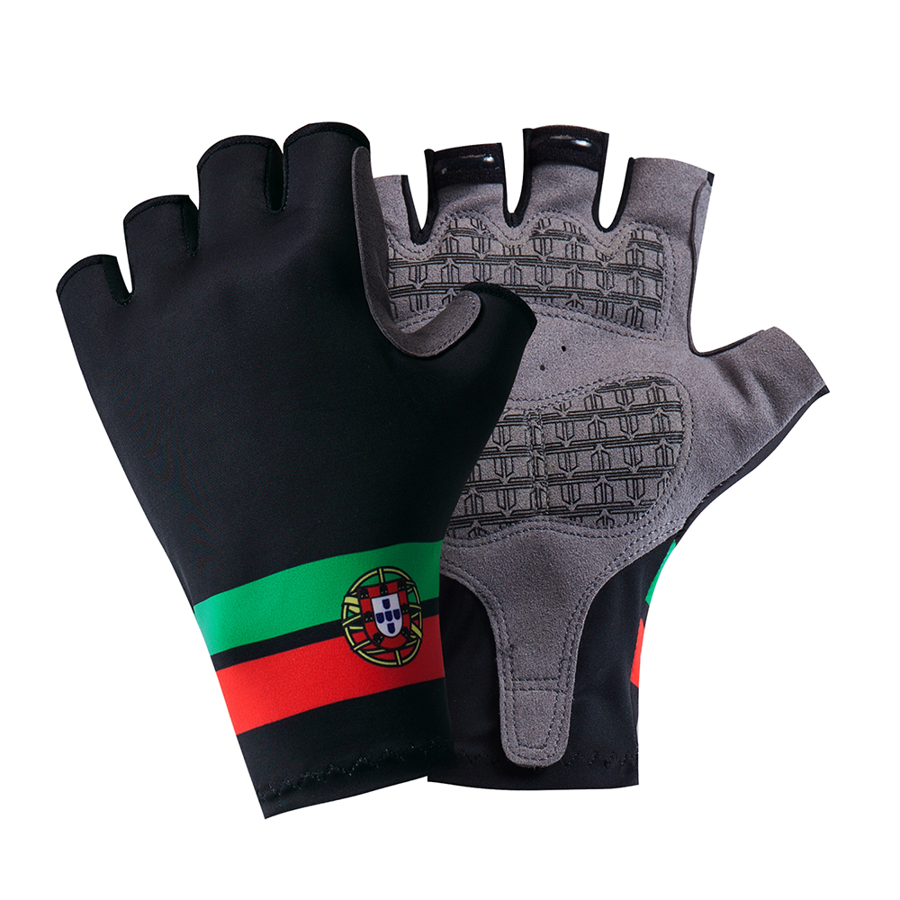 Portugal Cycling Gloves Half Finger Mens Women's Summer Sports Shockproof Bike Gloves GEL MTB Bicycle Gloves Guantes Ciclismo