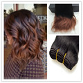 Full Shine Ombre Short Weave Brazilian Human Hair Extensions Color 1B Fading to 33 Natural Wave New Fashion Short Hair Weft