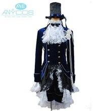 Black Butler Ciel Uniform Coat Shorts Shirt Hat Anime Halloween Cosplay Costumes For Women Dark Blue Dress