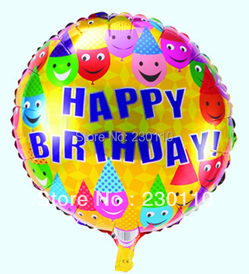 5s 18 inch round foil balloons, helium balloons , birthday party decorations - Happy Balloon Family store