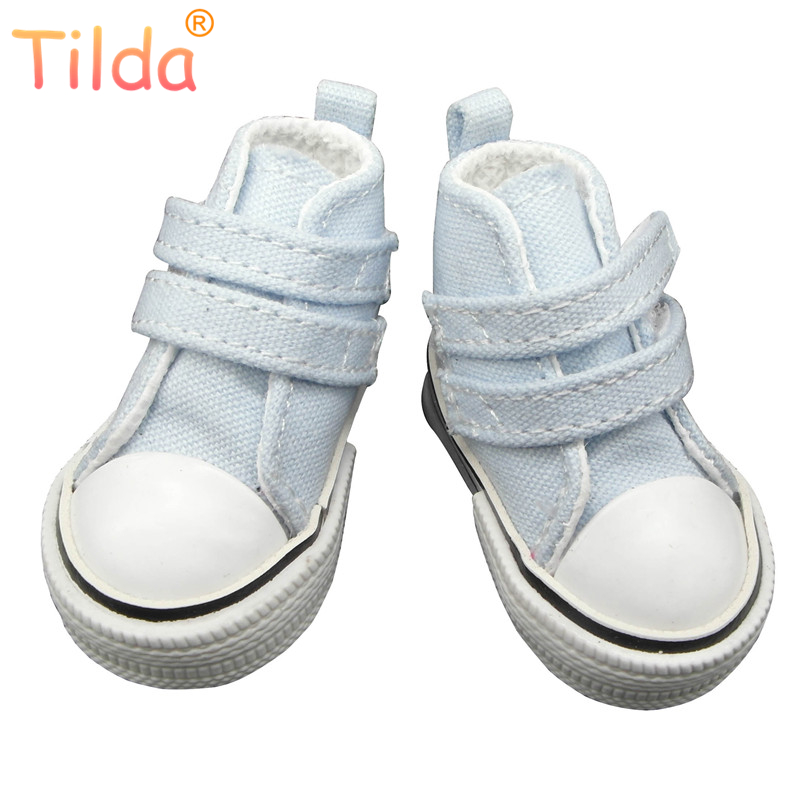 Tilda Fashion Shoes For Paola Reina Doll,Canvas Mini Toy Sport Shoes for Corolle,1/3 Bjd Doll Footwear Gym Shoes for Cloth Dolls