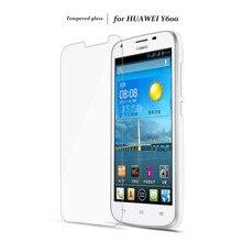 Высокое Качество 2.5D 9 H для Huawei Ascend Y600 Закаленное Стекло-Экран Протектор Для Huawei Y 600 Защитная Пленка + Чистые Комплекты