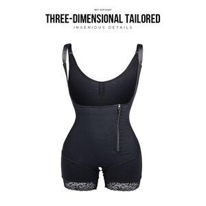 Image 4 - ボディシェイパーラテックスボディニッパー女性バットリフターおなかコントロールボディシェイパースリミング下着ガードル尻エンハンサー胃整形