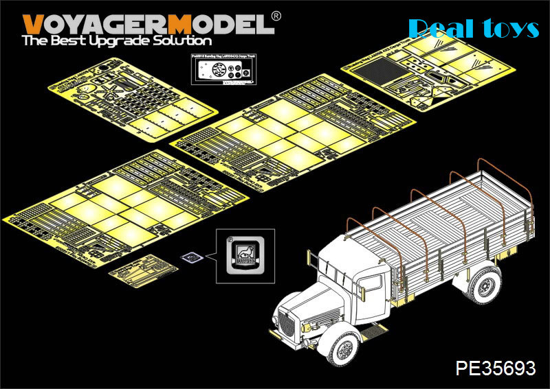 Voyager MODEL 1/35 PE35693 WWII German Bussing Nag L4500A 4X4 Cargo Truck (For AFV 35270)