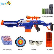Elektroniczny Submachine pistolet zabawka garnitur dla NERF miękki pocisk Gun Rival Elite Series zabawy na świeżym powietrzu i sportowe zabawki prezent dla dzieci chłopców prezent