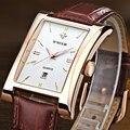 2016 Nova Marca de Luxo WWOOR Relógios Masculino Relógio de Quartzo relógio de Pulso dos homens Relógios relogio masculino relojes Pulseira de couro À Prova D' Água