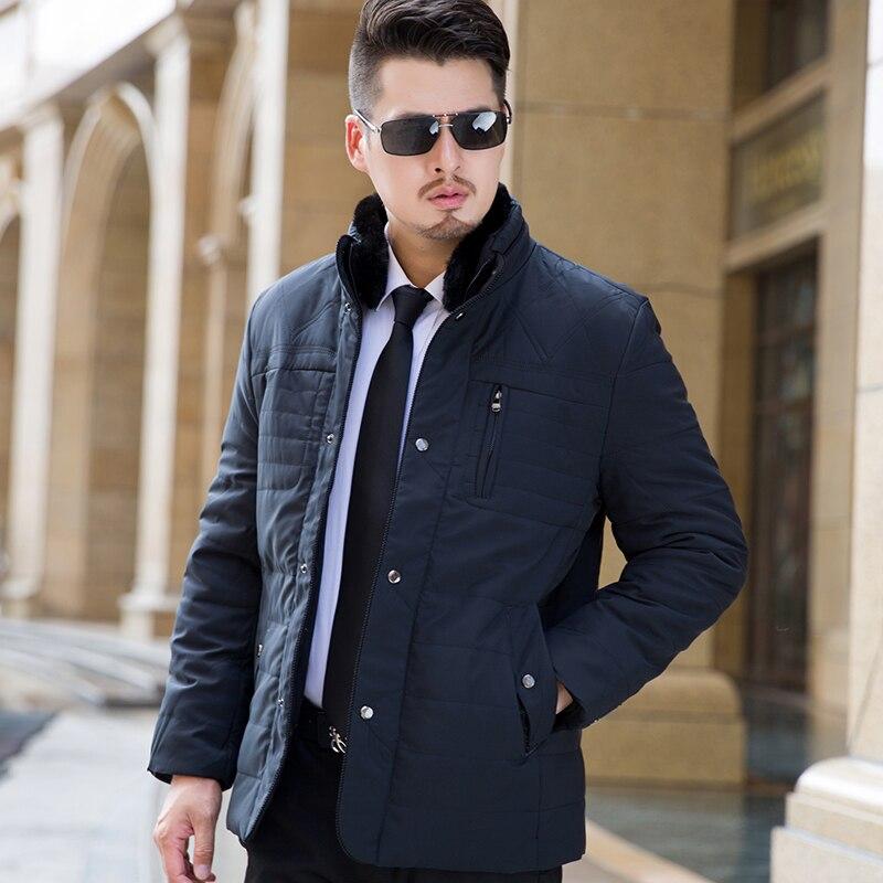 2017 Autumn Winter Long Thick Stand Collar parka men Plus Velvet P66 mens winter jackets and coats winter jacket men 2017