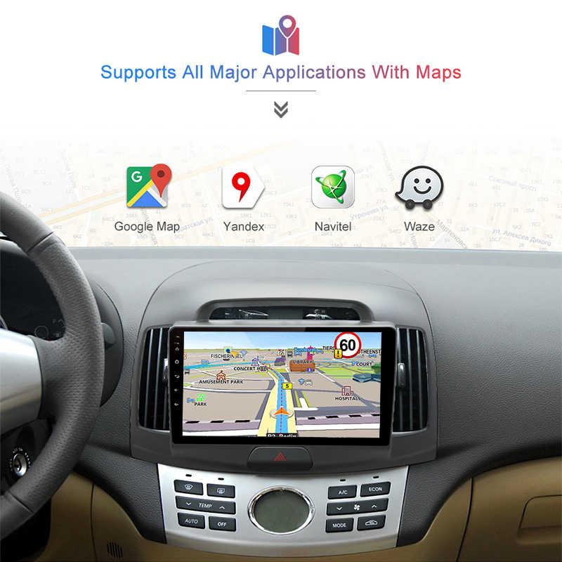 Junsun 2 Din multimedya Video oynatıcı Android 8.1 GPS navigasyon radyo 4G için Hyundai Elantra HD 2006 2007 2008 2009 2010 hiçbir dvd