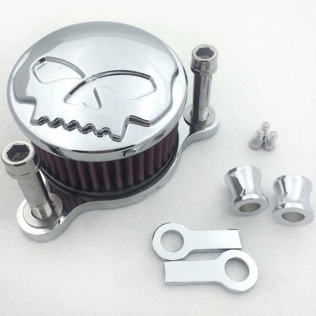 Partes Do Crânio Da Motocicleta do Aftermarket Kit Sistema de Air Filter Cleaner Intake Para Harley Sportster XL883 XL1200 1988-2015 Preto