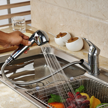 MOIIO Pull Out Kitchen Faucet Deck Mounted Brass Kitchen Mixer Washing Taps Deck Mounted Sprayer Stream Spout Pull Out Faucet цена и фото