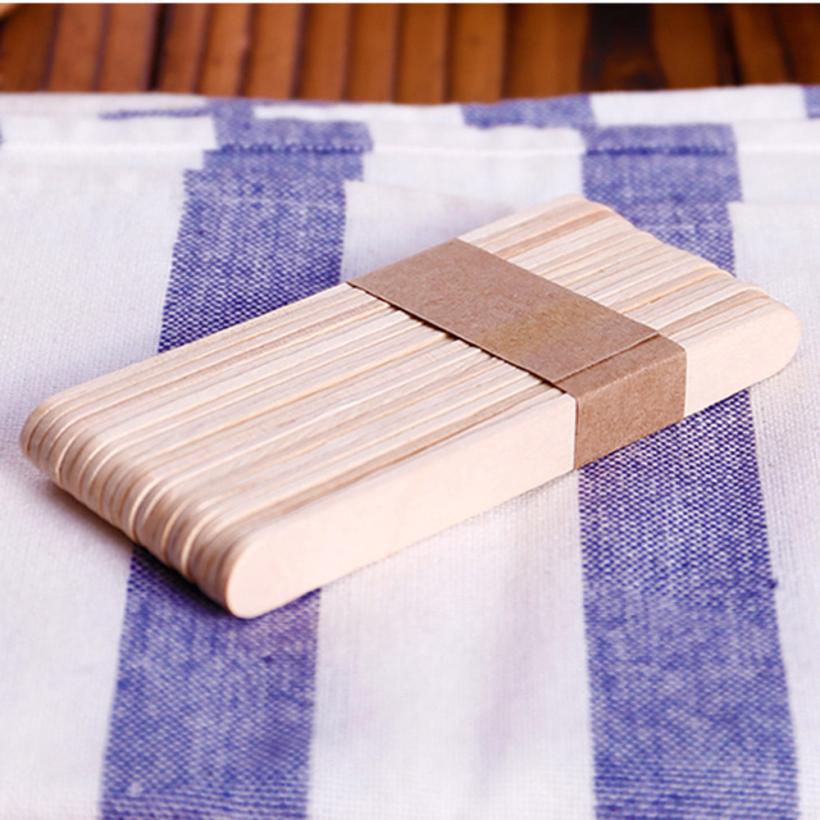 50Pcs Craft Home Made Ice Cream Sticks Wooden Pop Popsicle Sticks DIY Art EP/_