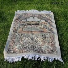 Składany kieszonkowy islamski muzułmańska mata do modlitwy Salat Musallah dywan modlitewny Tapis dywan Tapete Banheiro islamski modląc mata 70*110cm