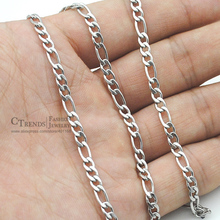 2016 new Figaro Chain Necklace Men Jewelry Accessories, Stainless Steel Necklace Women Jewellery, Wholesale 4mm, 45cm-65cm VN325