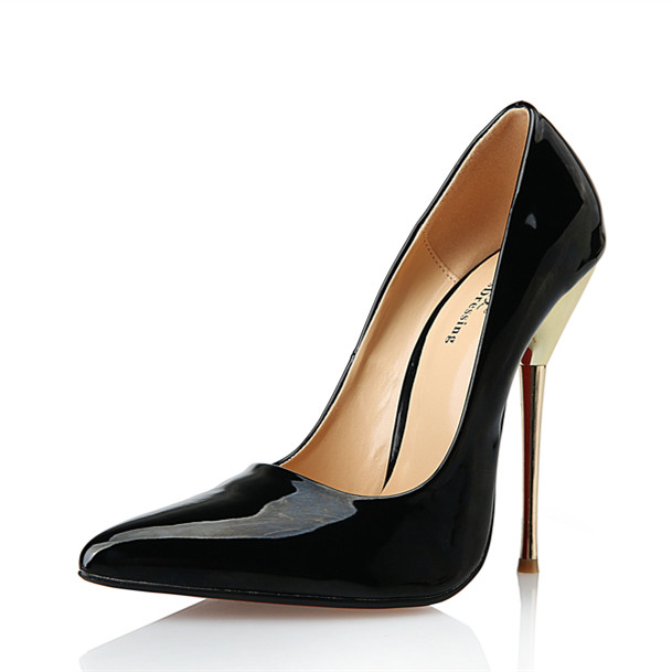 202da05a4cb4 Womens Pumps Extreme High Heel 14cm Stiletto Fashion Adult Sexy Fetish High  Heel Shoes Sex Pumps with Metal Heel Plus Size 40-49
