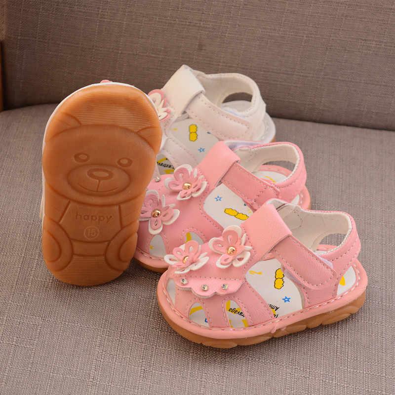 2019 קיץ תינוק בנות סנדלי החלקה יילוד רך נעלי bowknot נסיכת נעלי תינוקות נעלי החוף 1 שנה ישן