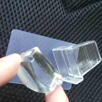 Juego de estampación de uñas transparente puro con estampa de jalea, rascador de uñas, sello de esmalte de plástico, plantilla de bricolaje para manicura, herramientas para uñas
